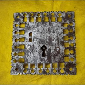 Sixteenth Century Wrought Iron Chest Lock