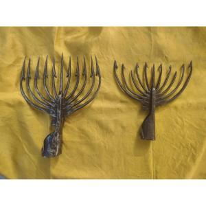 2 Harpons Pour Anguilles Italie XVIIIe Siècle