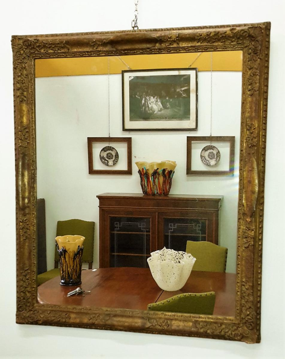 Mirror In Wood And Gilded Plaster
