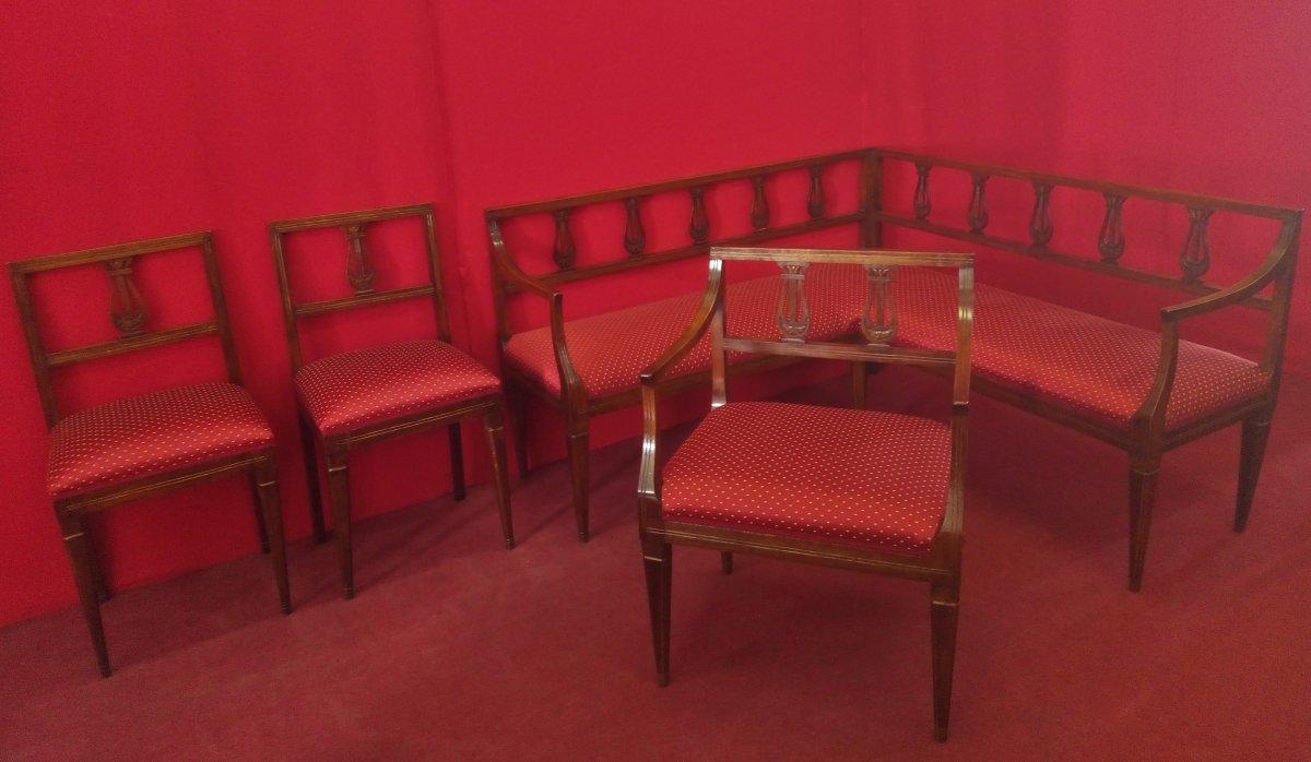 Ensemble Salon Avec Canapé d'Angle Louis XVI