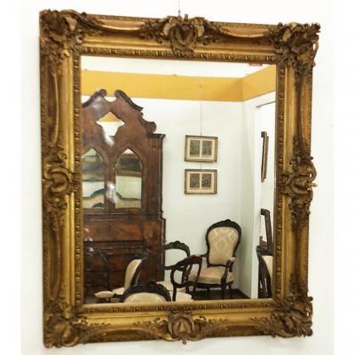 Mirror In Gilded Plaster Restored