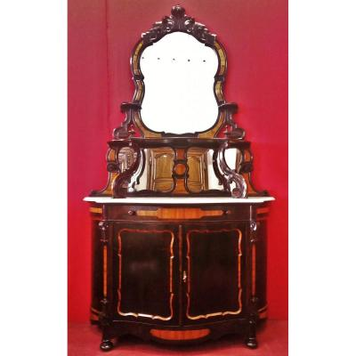 Carved Lombard Sideboard, Upper Part With Mirrors