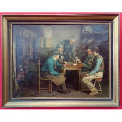 Peinture De Jules Denneulin Datée De 1866