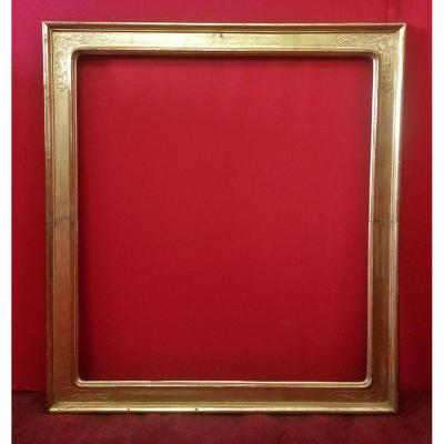 Frame In Gilded Wood With Engraving Decoration