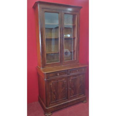 Small Mahogany Two-door Bookcase