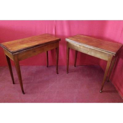 Pair Of Cherry Wood Tables