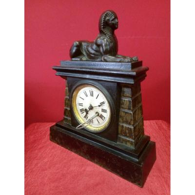 Pendulum Clock With Sphinx