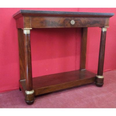 Empire Console With Turned Legs