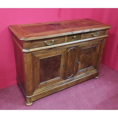 Walnut Sideboard Two Doors Three Drawers