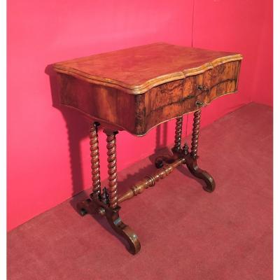 Walnut Briar Sewing Table