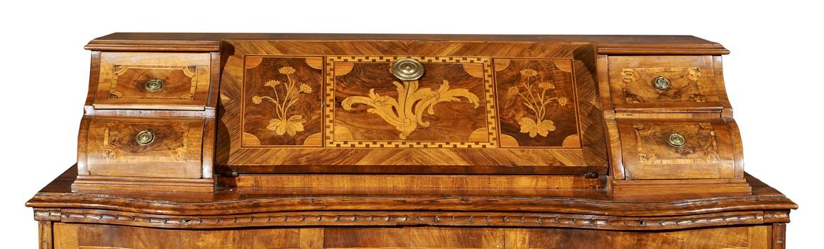 18eme Siecle Noyer Bureau Trento