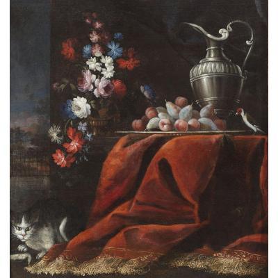 Nature Morte Avec Fleurs Et Fruits Ludovico Stern