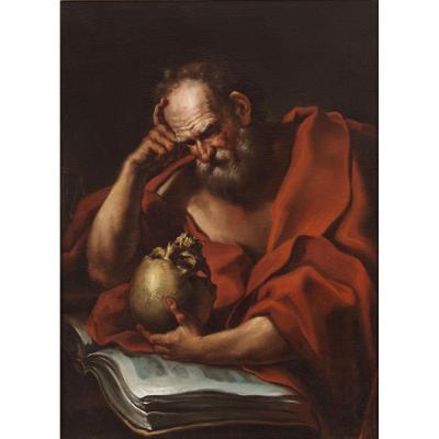 Saint Jerome - Giovanni Merano '600