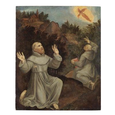 Saint Francis Recoit Les Stigmates Luca Mombello