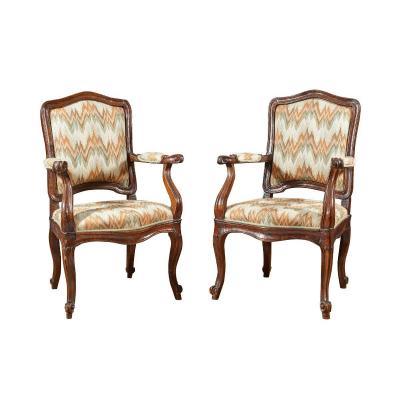 Pair Of 18th Century Venice School Armchairs