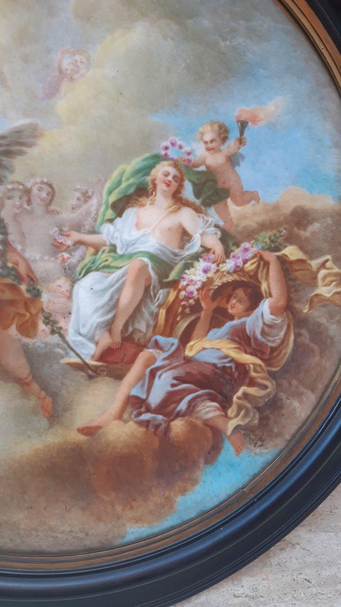 Porcelaine le triomphe de Flora