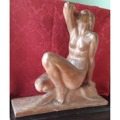 Sculpture Deco' Signee J.ortis