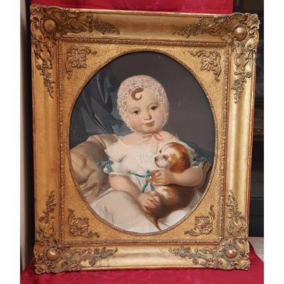Portrait De Petite Fille Vers Le 1850