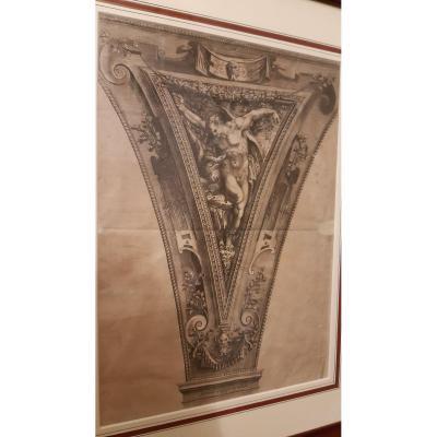 Gravure De Cherubinus Albertus,fin Du 16e Siecle