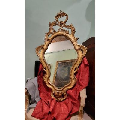 Miroir En Bois Dore',xixsiecle