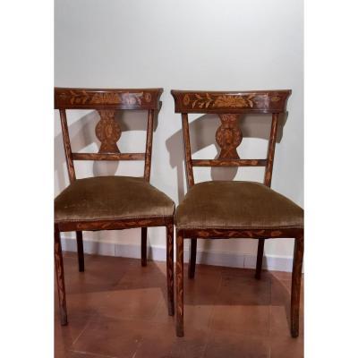 Deux Chaises Marquetees,du 19eme Siecle