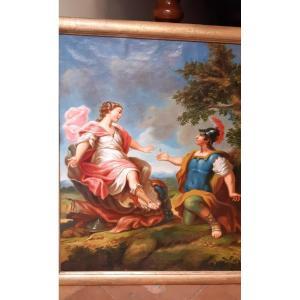 Tableau Scene Mythologique Du XVIIIe Siecle