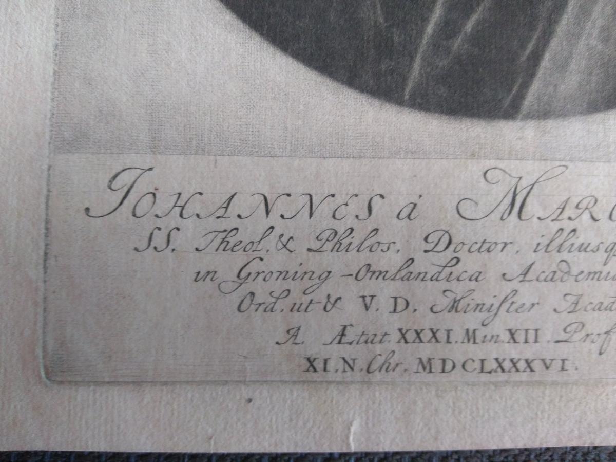 Portrait Gravure Ancienne XVIIème. Ec. Hollandaise-photo-3