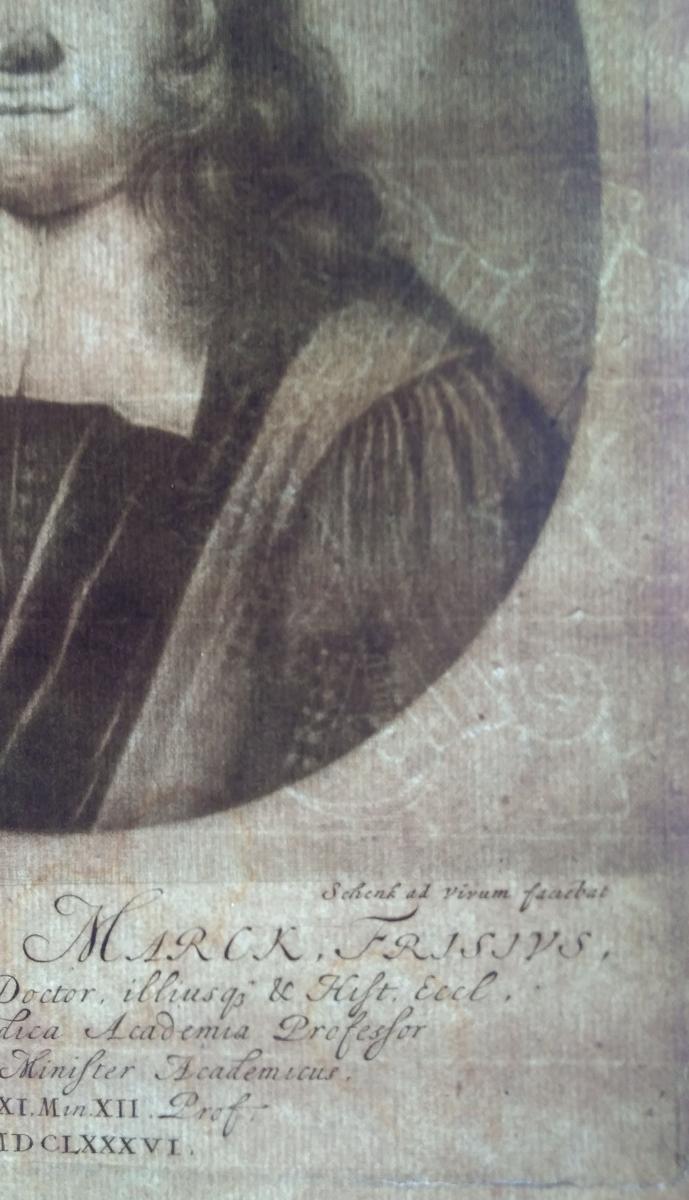 Portrait Gravure Ancienne XVIIème. Ec. Hollandaise-photo-4