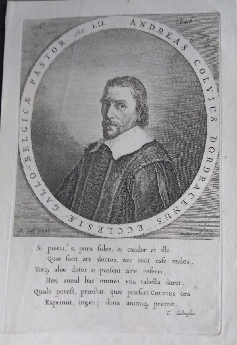 Portrait Engraving Old XVII. Dutch School