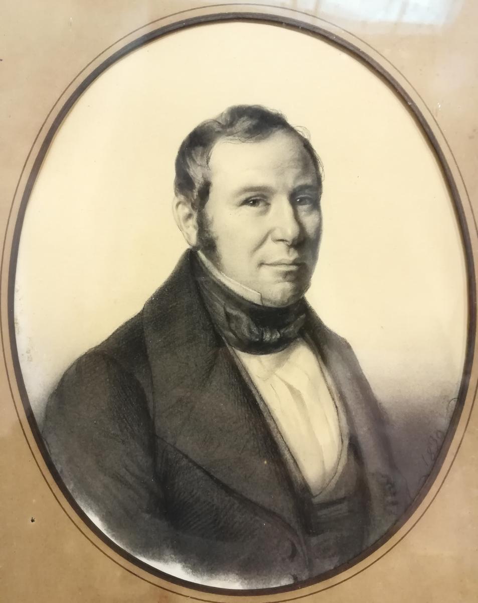 August Luc Demoussy (1809-1880) Portrait Of Gentleman