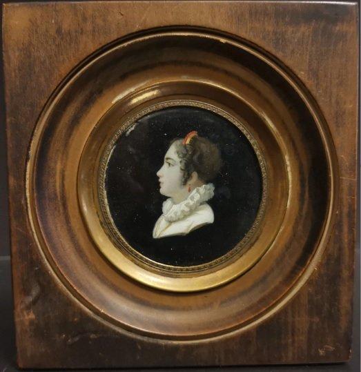 Profil Miniature. Ecole Française Du XIX ème.