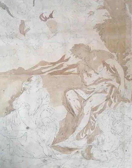 "Gérard de Lairesse (1641- 1711) , attrib.  Dessin ""Apollon"""
