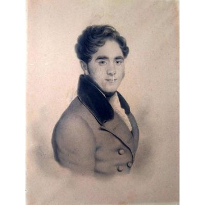 Portrait de Prosper Le Guay (1805-1886)  signé C.Doussault (1814-1880)