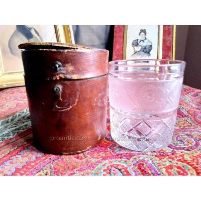 Gobelet cristal de voyage XIXème MAISON MARITN SEYER PARIS