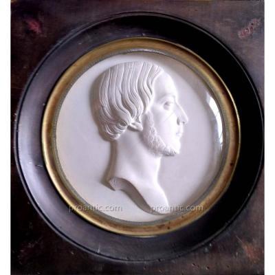 Gayrard Raymond (1777-1858) Medaillon En Plàtre. Henri De France
