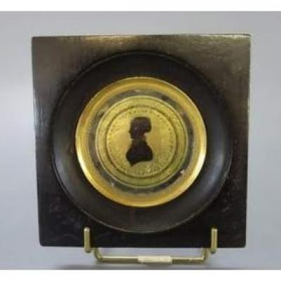 Miniature Silhouette XIXème. Profil De Femme