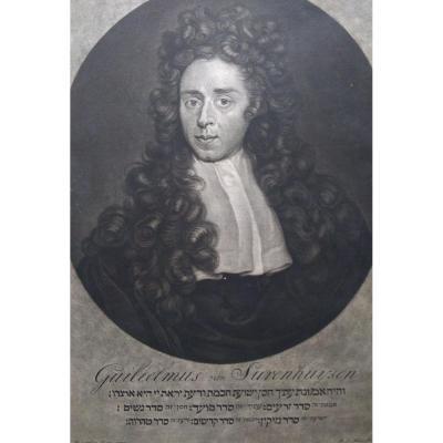 Gravure Ancienne Portrait. Ec. Hollandaise XVIIIÈme Siècle