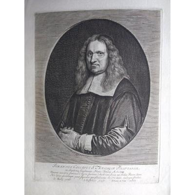 Gravure Encienne XVIIIÈme. Ec. Hollandaise. Portrait