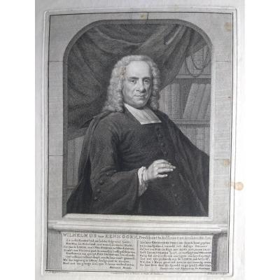 Portrait Gravure Ancienne XVIIIème. Ec. Hollandaise