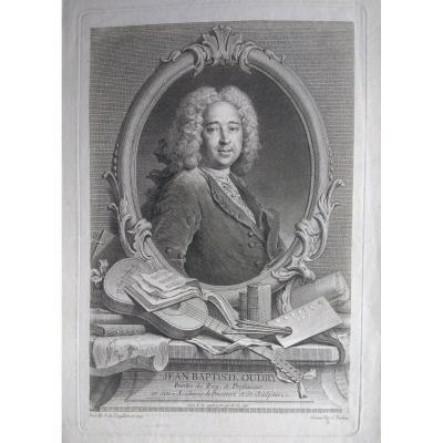 Portrait Engraving Old XVIII. Ec. French By J. Tardieu