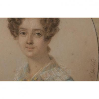 Portrait Femme Signè Gorbitz (1782-1853), XIXème Siècle