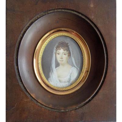 Portrait Miniature Debut XIXème. École Française