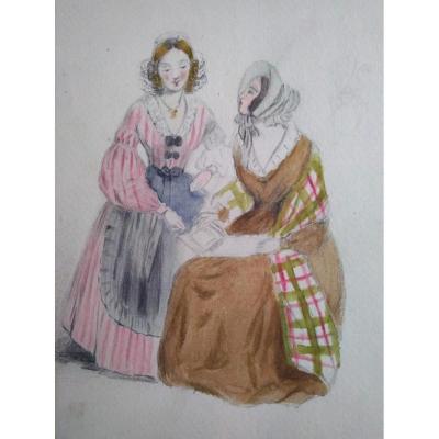 Ecole Française Vers 1840. Album De Dessins