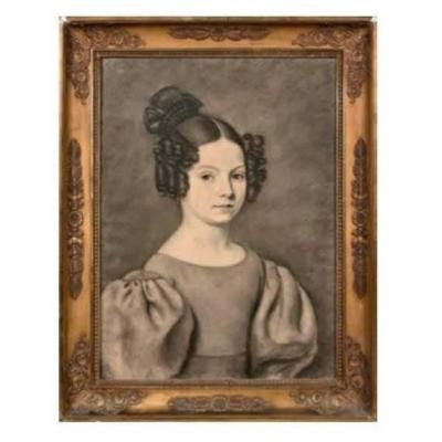 Portrait De Jeune Fille De Qualité. Ecole Française Vers 1830