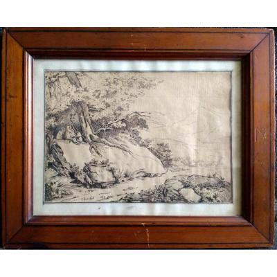 Charlet, Nicolas Toussaint (1792-1845). Dessin Signé