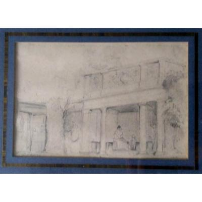 EugÈne Ciceri (1813-1890) Crayon Sur Papier