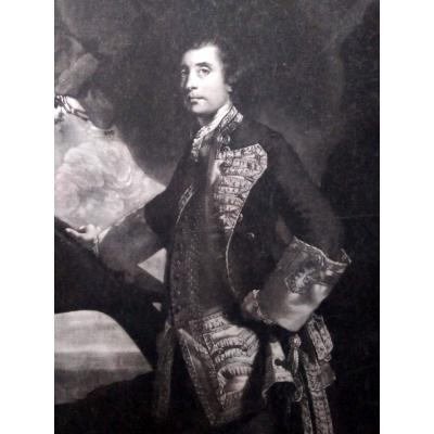 Portrait Gravure Ancienne par Reynolds (Plympton 1723- Richmond 1792)