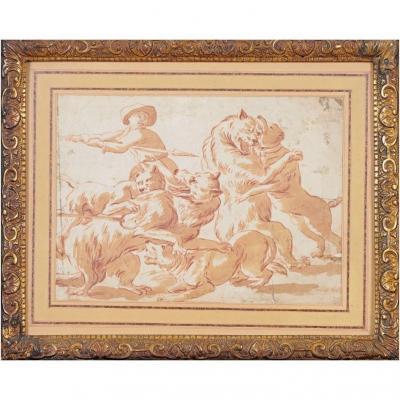 Franz Snyders (Anvers 1579- 1657 Anvers), attrib. Dessin