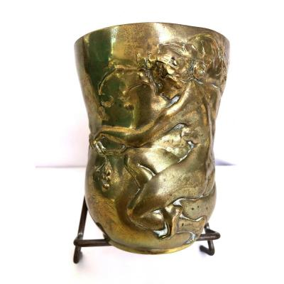 Goblet en Bronze par CHARLES VITAL-CORNU