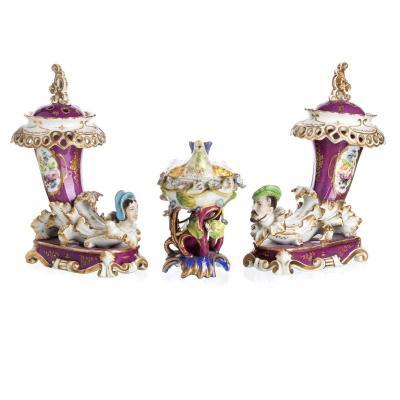 Pair Of Perfumers Jacob Small XIXth Century
